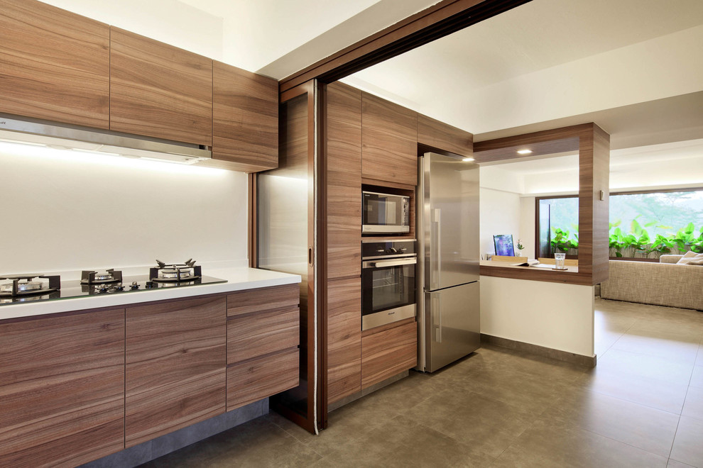 Tropical Modern Apartment Contemporary Kitchen Singapore By The Design Abode