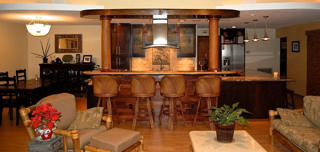 tropical south pacific kitchen kolonialstil k che. Black Bedroom Furniture Sets. Home Design Ideas