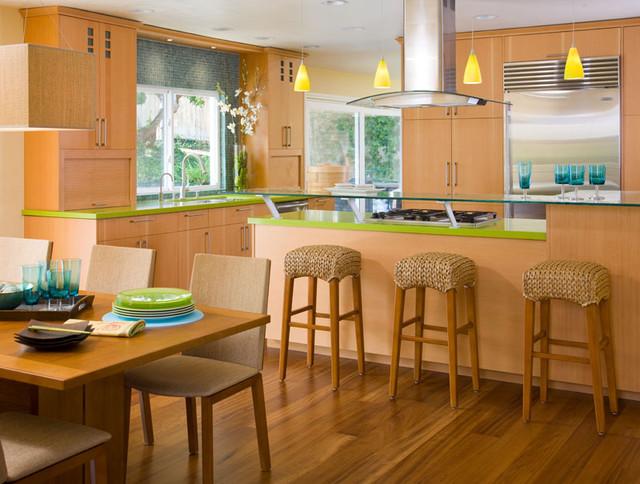 Tropical zen natural contemporary contemporary-kitchen