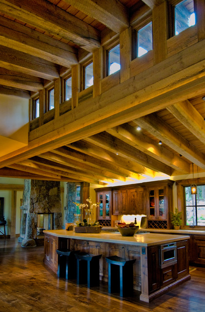 Truckee, CA home - Traditional - Kitchen - Sacramento - by Trestlewood