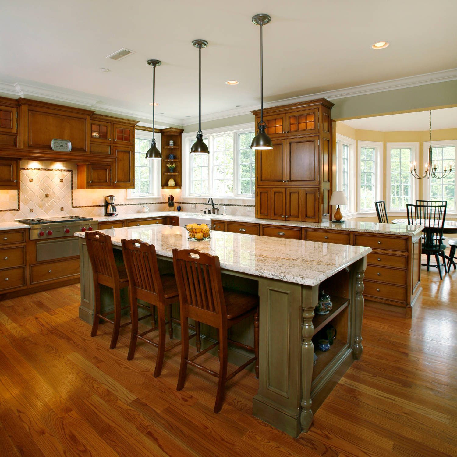 Maple Cabinets With Oak Floors Houzz