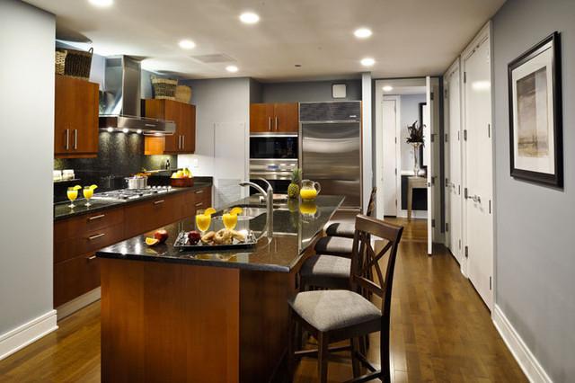 Trump International Hotel & Tower contemporary-kitchen