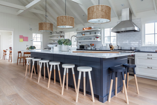 Using Natural Fiber Textiles In The Kitchen Brings An Earthy, Casual Vibe  Perfect For A Beach Style Space. Using Pendant Lights, Like The Ones Shown  Here, ...