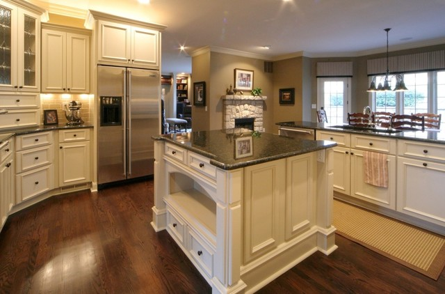 Tudor house traditional kitchen kansas city by for Tudor kitchen design