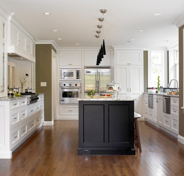 Tudor House transitional kitchen