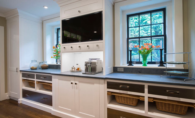 Turn Of The Century Meets Soft Modern Contemporary Kitchen New York By Tobias Design Llc