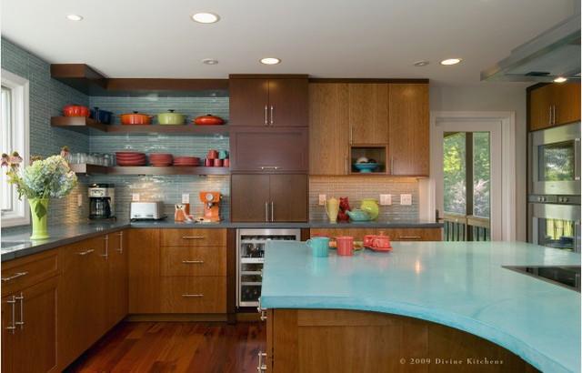 turquoise modern kitchen modern kitchen - Turquoise Kitchen