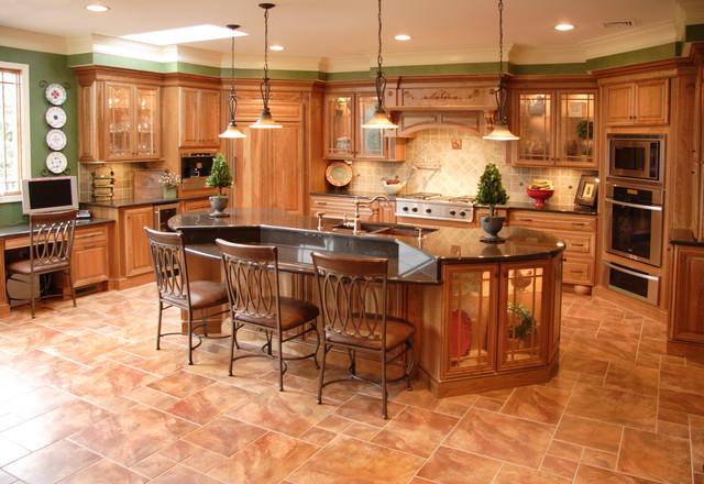 Tuscan Cherry Mediterranean Kitchen Philadelphia By Cranbury Design Center Llc