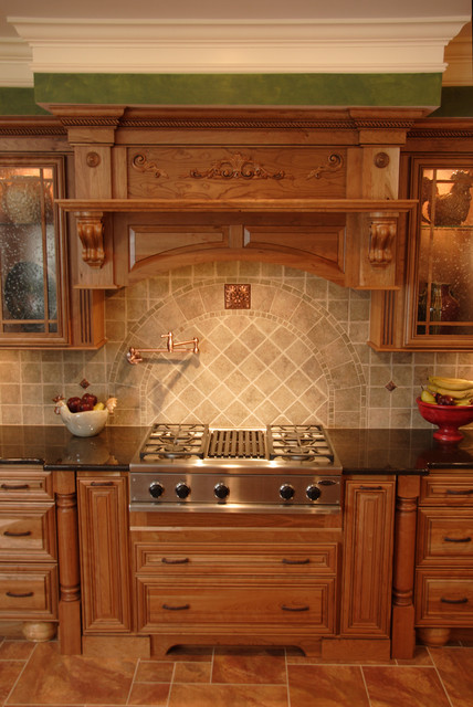 Tuscan cherry mediterranean kitchen philadelphia by cranbury design center llc Bathroom design centers philadelphia