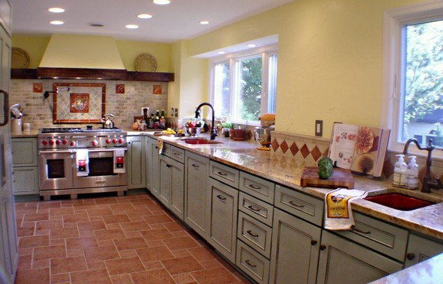 Tuscan Country Kitchen Eclectic