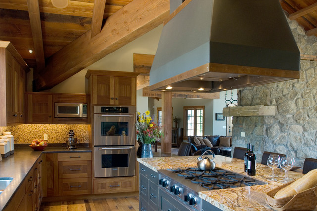 Tuscan Farm Rustic Kitchen By Centre Sky