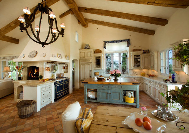 Tuscan Farmhouse Mediterranean Kitchen Santa Barbara