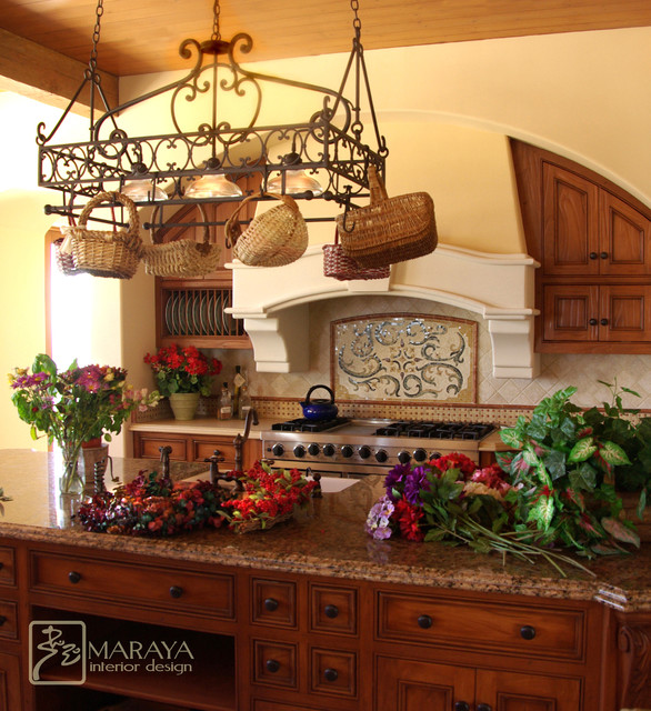 Tuscan Hood Farmhouse Kitchen Santa Barbara By