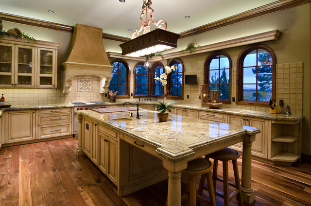 Tuscan in the Pines - Mediterranean - Kitchen - portland - by Homeland Design, llc