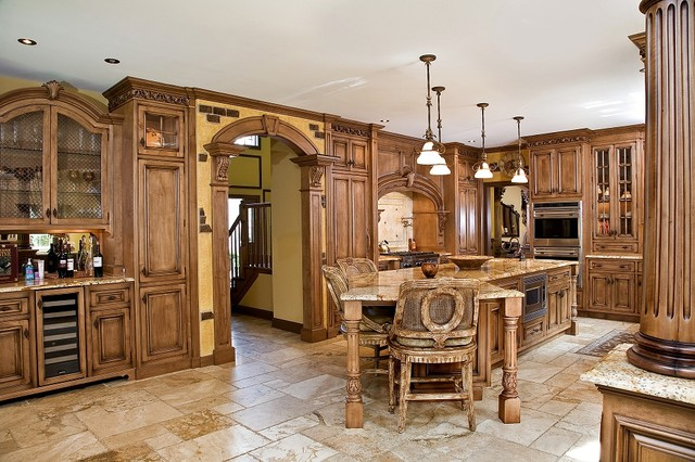 tuscan kitchen design nj - Traditional - Kitchen - newark - by Kuche+Cucina