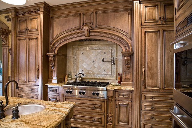 tuscan kitchen design nj traditional kitchen - Tuscan Kitchen Ideas