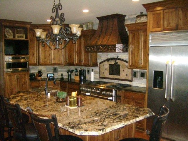 Tuscan Kitchen - Mediterranean - Kitchen - louisville - by Details Designs and Cabinets