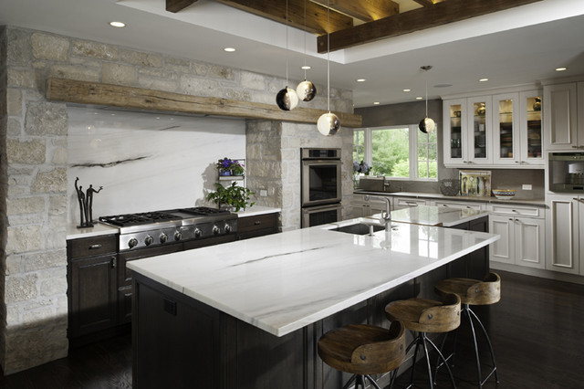 Tuscan Kitchen Contemporary Kitchen Chicago By