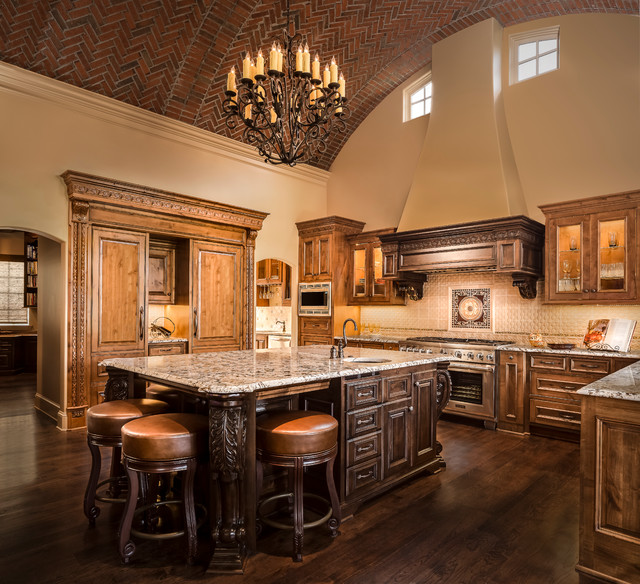 Tuscan home in shoal creek kansas city mediterranean for Kitchen design kansas city