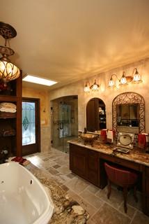 Tuscan Master Bathroom Suite Santa Ana, CA