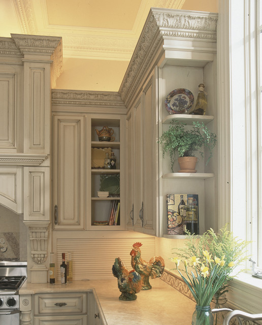 Tuscan Decorating Above Kitchen Cabinets: Tuscan Style New Jersey Kitchen