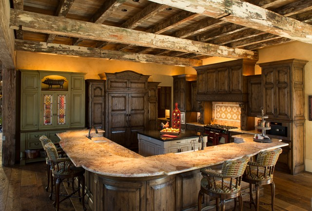 Tuscan Villa Traditional Kitchen Houston By Ellis