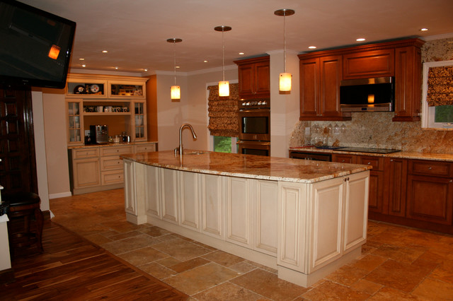 Tuscany And Harvest Maple Kitchen Design Mediterranean Kitchen Other By Rta Cabinet Store