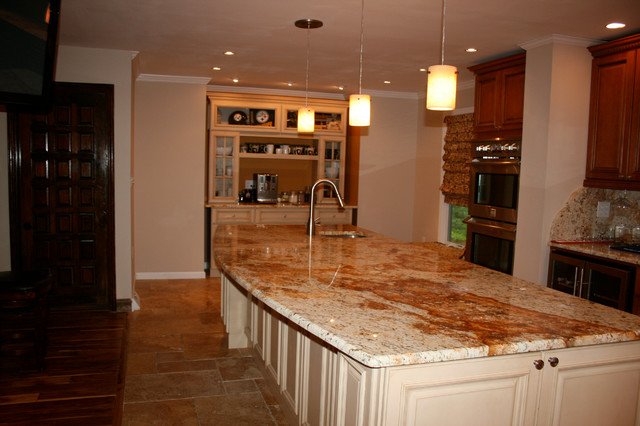 Tuscany and Harvest Maple Kitchen Design - Mediterranean - Kitchen - Other - by RTA Cabinet Store