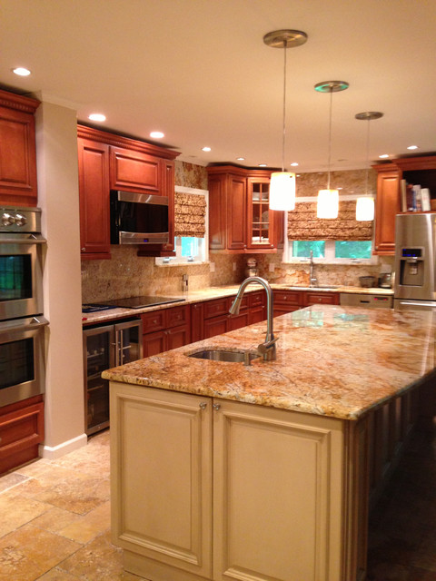 tuscany and harvest maple kitchen design mediterranean