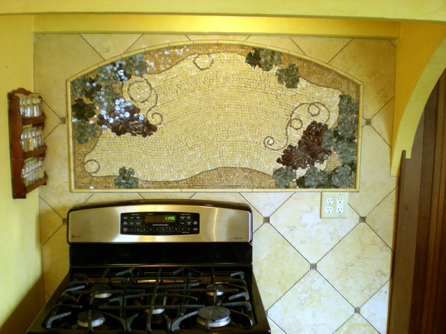 Tuscany backsplash mediterranean kitchen