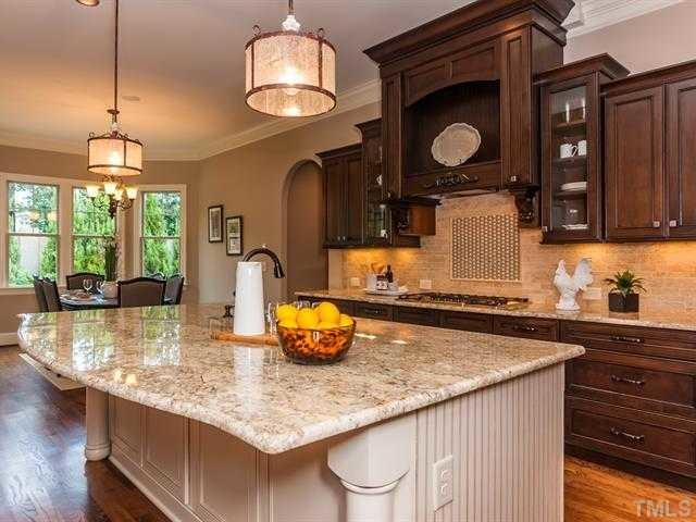 Cabinet Perimeter Antique White Chocolate Glaze transitional kitchen