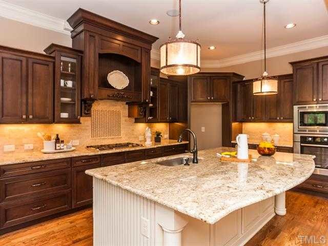 Interior Chocolate Glaze Kitchen Cabinets tuscany cherry cabinet perimeter antique white chocolate glaze transitional kitchen
