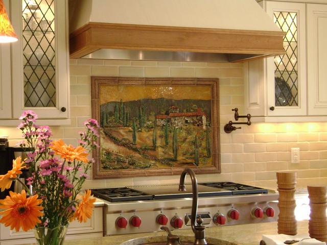 Tuscany Scene Kitchen Backsplash