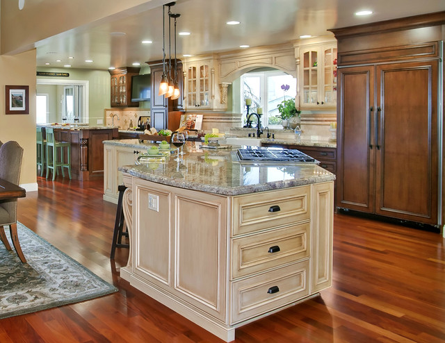 Tuscany style kitchen great room mediterranean kitchen for Kitchen and great room designs