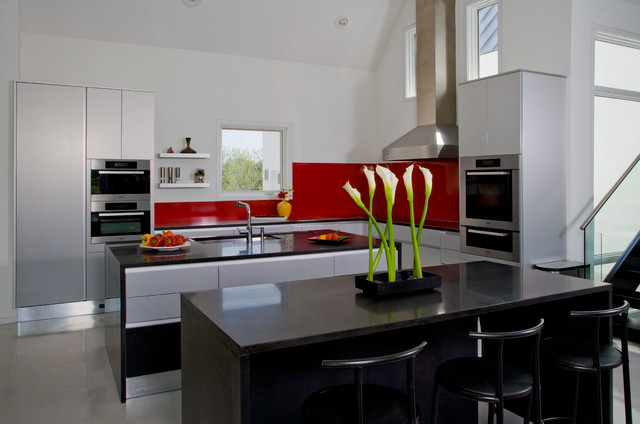 Two island contemporary european style kitchen with aster for Aster cucine kitchen cabinets