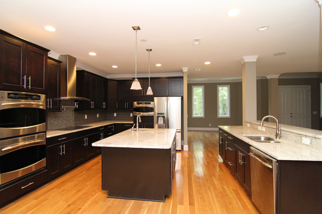 Two Island Kitchen   Two Island Kitchen Layout Contemporary Kitchen Raleigh By