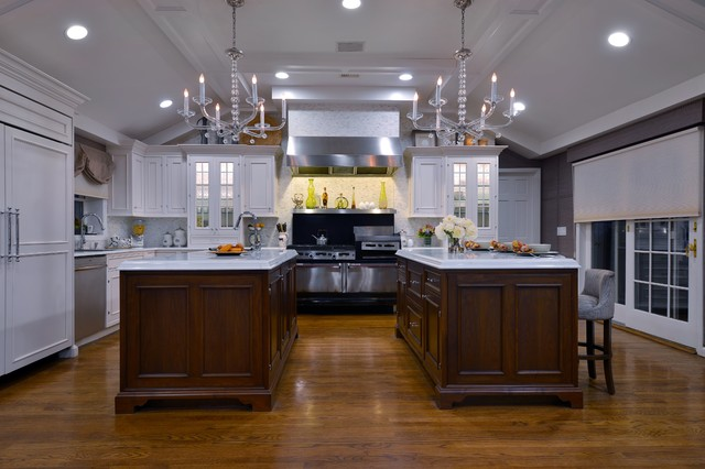 Two Islands Are Better Than One - Traditional - Kitchen - New York ...