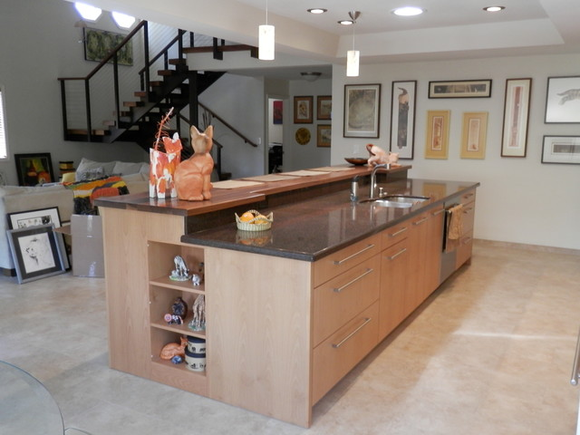 Two level island for 2 level kitchen island