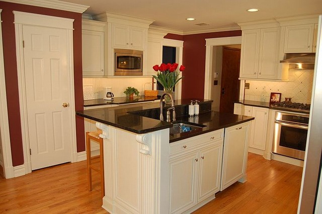 Two level island with sink seating for 5 by kitchens for Two level kitchen island