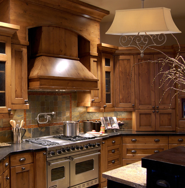 two light mocha island light rustic kitchen new york by we got. Black Bedroom Furniture Sets. Home Design Ideas