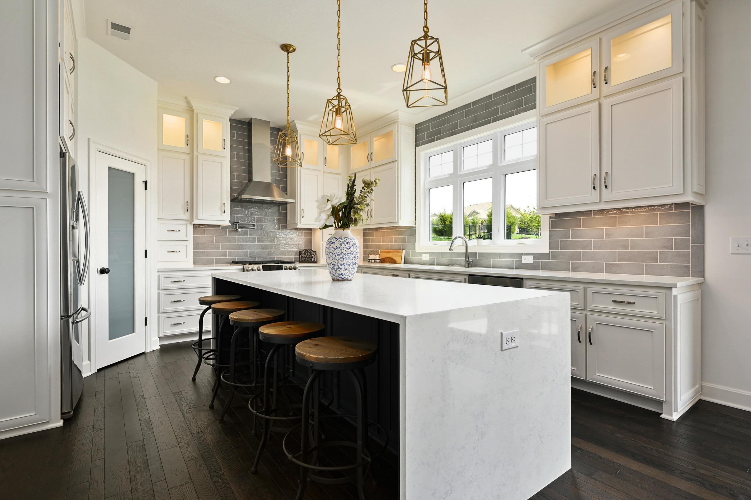 75 Gray Subway Tile Kitchen Backsplash Pictures Ideas Houzz