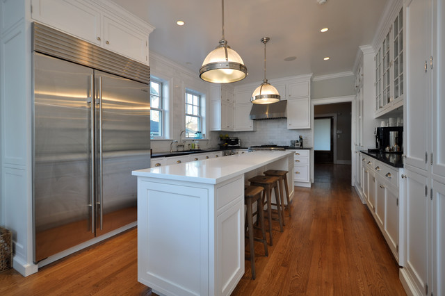 Elegant Kitchen Photo In New York With Stainless Steel Liances
