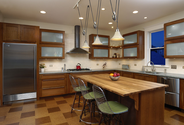 Two Story Rear Addition contemporary-kitchen