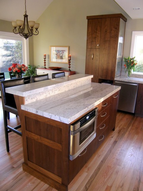 Two Tier Granite Topped Island with Thick Edge Detail : contemporary kitchen from www.houzz.com size 480 x 640 jpeg 74kB