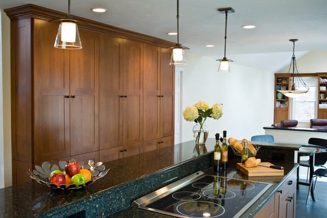 Two Tiered Island And Pantry Storage Eclectic Kitchen Boston By Westborough Design