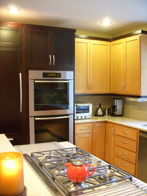 Two Tone Cabinets traditional-kitchen