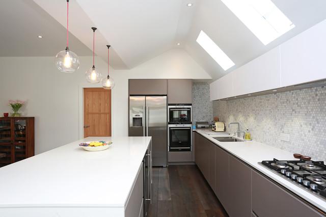 Two Tone Grey And White Kitchen Modern Kitchen