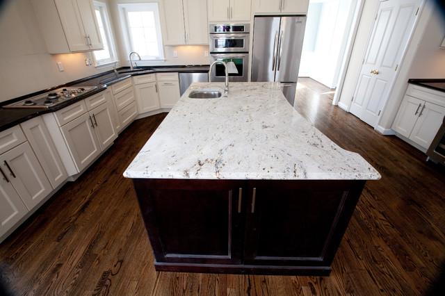 ... Antique Brown Granite & Millennium Cream Granite traditional-kitchen