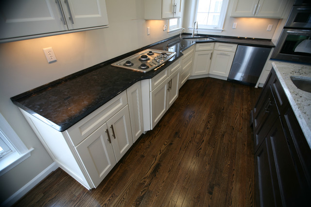 Two Tone Kitchen: Antique Brown Granite & Millennium Cream Granite - Traditional - Kitchen - dc ...