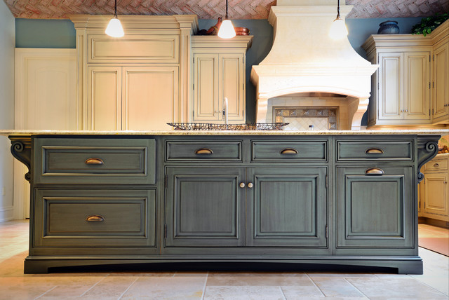 two tone kitchen island